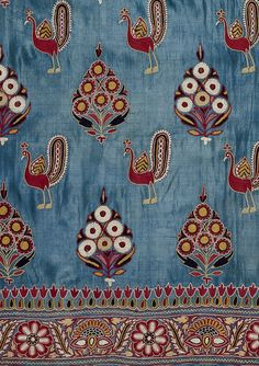 Silk cloth/embroidery | Kutch, India (~1880). V&A Collection.