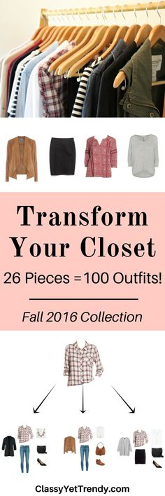 Transform your closet with the The Essential Capsule Wardrobe: Fall 2016 Collection.
