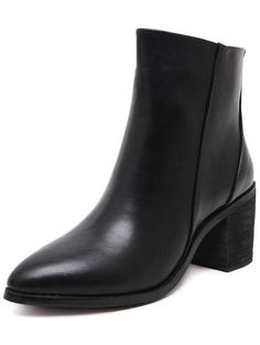 Shop Black Pointy PU Chunky Boots online. SheIn offers Black Pointy PU Chunky Boots & more to fit your fashionable needs.