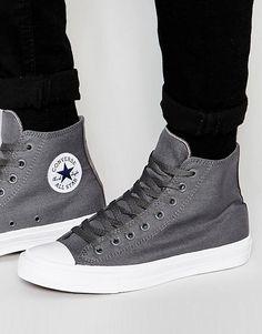 Converse | Converse Chuck Taylor All Star II Hi-Top Plimsolls In Grey 150147C