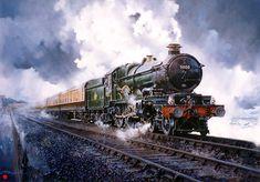 Fine Art Prints of Railway Scenes & Train Portraits - Dawlish Castle by John Austin