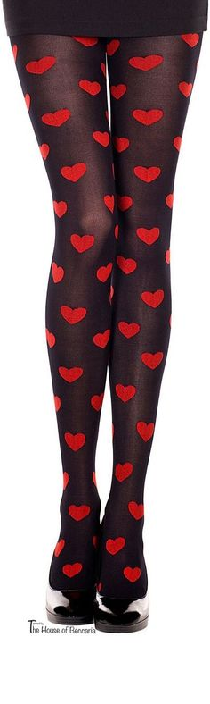 ❤️ b e m y v a l e n t i n e p a r t y {Valentine's Day. I want to be loved. I am loved. I love you, too.} ~Silk and Wool Blend Heart Tights | The House of Beccaria
