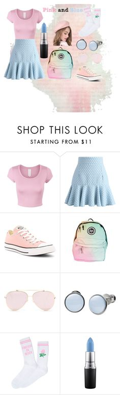 """Pink and Blue"" by lottie2004 ❤ liked on Polyvore featuring Chicwish, Converse, Skagen, Yeah Bunny, MAC Cosmetics and pinkandblue"