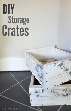 How to Build Storage Crates | DIY Stacking Storage Crates using left over scrap wood. Organize your home with these fun crates. This is an easy tutorial for anybody to try.