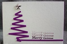 Let's take time.: C wie Christbaum (Christmas Ideas Tree) Homemade Christmas Cards, Handmade Christmas, Homemade Cards, Christmas Crafts, Christmas Tree, Christmas Ribbon, Purple Christmas, Merry Christmas Images, Christmas Decorations