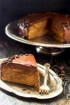 A crepe cake made with whole wheat flour to keep it lighter, this impressive dessert is actually a cinch to make.