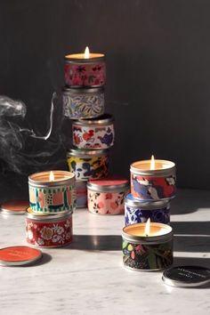 Artist Print Tin Candle
