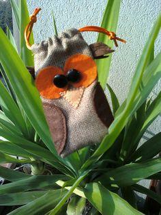 Handmade felt pouch for mobile phone