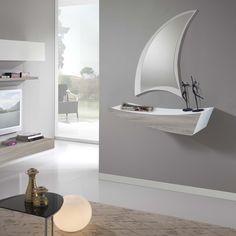 Meuble d'entrée avec étagère et tiroir Boat - ARREDACLICK