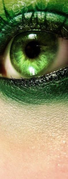 Eye shadow green shades 31 ideas for 2019 Mean Green, Go Green, Green Eyes, Green Colors, World Of Color, Color Of Life, Photo Oeil, Green Fashion, Beautiful Eyes