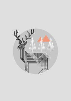 Dribbble - deer_big.png by Ondrej Lechan