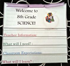 The Simply Scientific Classroom: Meet the Teacher Night ~ Parent/Student Activity