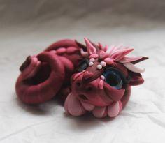 Baby Valentine Dragon by BittyBiteyOnes on Etsy