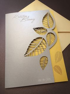 Laser cut wedding Invitations by NinahCoutureInvites on Etsy
