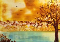juliebouve | All about me myself and my hobby… Encaustic fantasy landscape