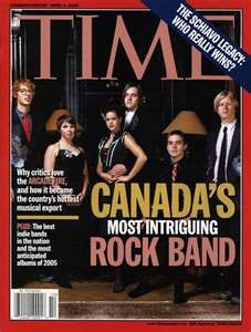 most intriguing rock band............  Arcade Fire