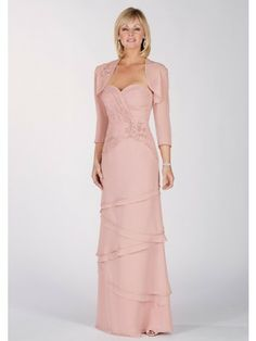 Column Sweetheart Neck Chiffon Mother Of The Bride Dresses
