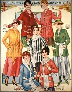 Knitted Coats & Skirts for Women, Eaton's Spring & Summer 1917 Catalog | by The Bees Knees Daily