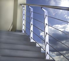Exterior Metal Banisters in Stainless Steel by Marretti Staircases