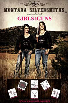 Girls with Guns Clothing Partners with Montana Silversmiths to Release Line of Logo Jewelry   www.gwgclothing.com