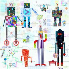Roboworld Children's Wall Art £24.95 : Artful Kids