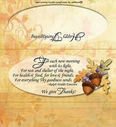 Free Printable Thanksgiving Blessing Candy Bar Wrapper - Give Thanks Chocolate Bars