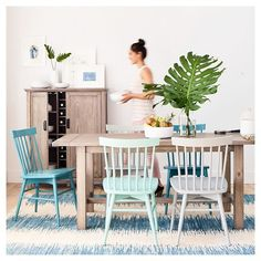 Windsor Dining Chair Wood/Multiple Colors (Set of 2) - Threshold™ - Teal