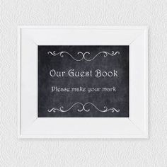 chalkboard guest book instruction sign - FREE DOWNLOAD