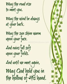Patrick's Day Decor with Irish Blessing Printable patricks day party sayings Simple St. Patrick's Day Decor with Irish Blessing Printable