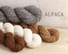 Handspun Native American Alpaca Yarn