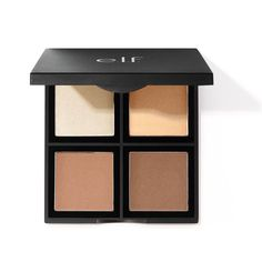 Sculpt, shade, and brighten with this 4 shade powder contour palette. It's customizable to match your skin tone and is infused with vitamin E. Get a gorgeous, nourished complexion all day! Best Contouring Products, Face Contouring, Contouring And Highlighting, Best Makeup Products, Beauty Products, Elf Products, Face Products, Contour Kit, Hair