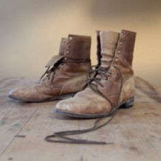This is Chalies boots that his dad gave him after e died of Spanish Flu.