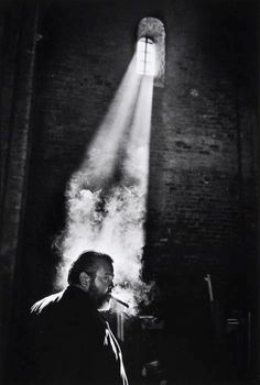 blackpicture:  Nicolas Tikhomiroff Orson Welles while filming Chimes at Midnight. Spain (1964)