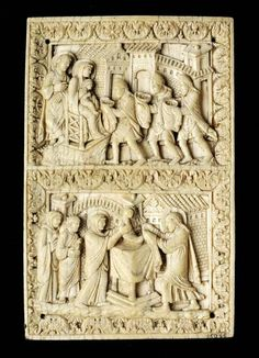 a ivory book cover the adoration of the magi 900 metz