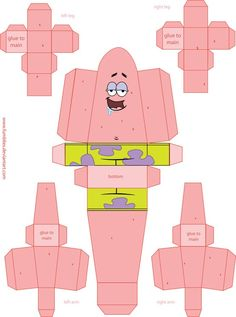 Spongebob Paper Toy Template