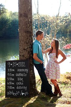 During engagement session, take detail photos that can be used for Save-the-Dates and provide info for invitations.