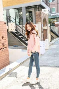 Buy Polar Neck Knit Marion Top at Korean Fashion Store. Authentic Korean clothing coming directly from Korea. Korean Fashion Teen, Korean Fashion Summer Casual, Korean Fashion Ulzzang, Korean Fashion Dress, Winter Fashion Casual, Korean Street Fashion, Korea Fashion, Korean Outfits, Asian Fashion