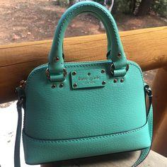 "Kate Spade Mini Rachelle Wellesley Purse Authentic Kate Spade Mini Rachelle Wellesley Purse, Color Is Listed As FreshAir, Zip Top Closure, Long Adjustable Strap, 6"" x 8"" x 2 1/2"" kate spade Bags Shoulder Bags"