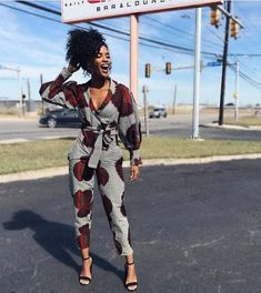 African Print Jumpsuit, Ankara Jumpsuit, Wrap Jumpsuit, Jumpsuit With Sleeves, Dress Pants, Dress Shoes, Shoes Heels, African Fashion Ankara, African Dress