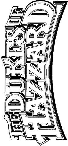 105 Best Dukes Of Hazzard Images On Pinterest In 2018 Dukes Of - Dukes-of-hazzard-coloring-pages
