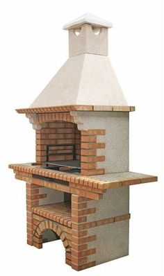 Picture of Portuguese Brick BBQ Outdoor Barbeque, Outdoor Oven, Barbecue Design, Grill Design, Brick Grill, Backyard Fireplace, Backyard Patio, Gazebo, House