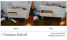 Project: White Dresser Damages: Front panel