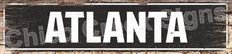 ATLANTA Street Plate Sign   Chic Decor 4180059