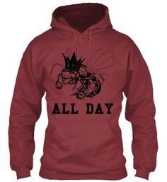 All Day Maroon Sweatshirt Front