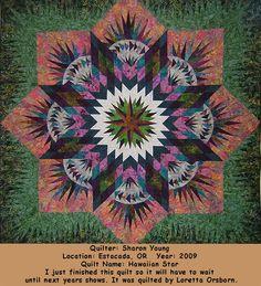 Hawaiian Star, Quiltworx.com, made by Sharon Young