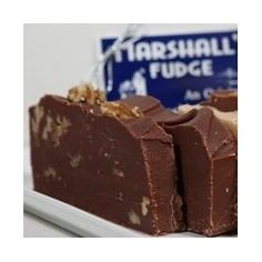 Marshall`s Mackinac Island Fudge Two Slice Assortment Gift Box (1 Pound) Plain Chocolate, Chocolate English Walnut