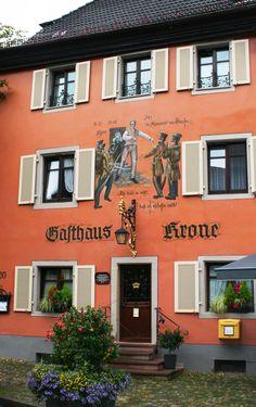 Gasthaus Krone Staufen Germany laceupandwalk.blogspot.com