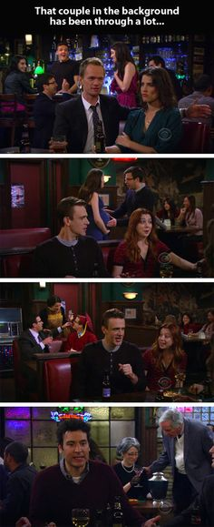 Parallel story in How I Met Your Mother…