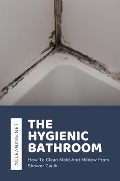 The Hygienic Bathroom: How To Clean Mold And Mildew From Shower Caulk | xCleaning.net - Your Cleaning Tips Cleaning Shower Mold, Remove Mold From Shower, Bathroom Cleaning, Deep Cleaning Tips, Cleaning Hacks, Cleaning Recipes, Cleaning Products, Cleaning Solutions, Shower Grout