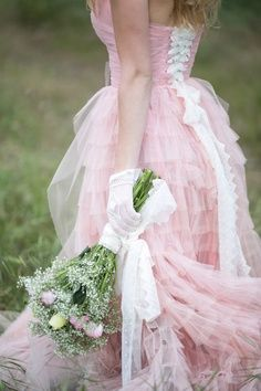 Casual Elegance by Beverly Girolomo : A Pink gown for you or your bridesmaid. Showing bridal accessories